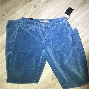 JOE'S Jeans Light Blue Velvet Skinny Ankle Cut